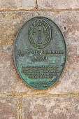 The plaque on the lighthouse dating from 1816 built by Robert Stevenson on the Isle of MAy, Firth of Forth. Picture Credit : Ian Macrae Young / Scottish Viewpoint   Tel: +44 (0) 131 622 7174  E-Mail :... Public 2012,summer,sunny,building,attraction,visitor,tourist