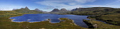 The view over Loch Bad a' Ghaill to the mountains of Wester Ross, Highlands of Scotland. Picture Credit : Iain McLean / Scottish Viewpoint   Tel: +44 (0) 131 622 7174  E-Mail : info@scottishviewpoint.... Public 2012,summer,sunny,highland,munro,munros,panoramic,mountain,water