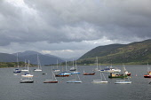 Boats moored in Loch Broom at Ullapool, Highlands of Scotland. Picture Credit : Iain McLean / Scottish Viewpoint   Tel: +44 (0) 131 622 7174  E-Mail : info@scottishviewpoint.com  This photograph canno... Public 2012,summer,sunny,highland,clouds,mountain,mountains,hills,sailing,sail,activity,yacht,yachts,boat