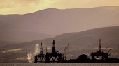 Oil rigs at the fabrication yard at Invergordon on the Cromarty Firth, Highlands of Scotland. Picture Credit : Andrew Wilson / Scottish Viewpoint   Tel: +44 (0) 131 622 7174  E-Mail : info@scottishvie... Public 2012,spring,production,energy,fuel,drill,drilling,north,sea,industry,industrial,platform,petro,chemical,petrochemical,highland,atmospheric
