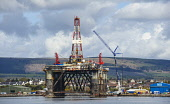 An oil rig at the fabrication yard at Invergordon on the Cromarty Firth, Highlands of Scotland. Picture Credit : Andrew Wilson / Scottish Viewpoint   Tel: +44 (0) 131 622 7174  E-Mail : info@scottishv... Public 2012,spring,sunny,production,energy,fuel,drill,drilling,north,sea,industry,industrial,platform,petro,chemical,petrochemical,highland
