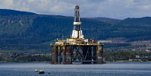 Oil rig at anchor in deep water in the Cromarty Firth, Highlands of Scotland. Picture Credit : Andrew Wilson / Scottish Viewpoint   Tel: +44 (0) 131 622 7174  E-Mail : info@scottishviewpoint.com  This... Public 2012,spring,water,production,energy,anchorage,fuel,drill,drilling,north,sea,industry,industrial,platform,petro,chemical,petrochemical,highland