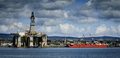 An oil rig at the fabrication yard at Invergordon on the Cromarty Firth, Highlands of Scotland. Picture Credit : Andrew Wilson / Scottish Viewpoint   Tel: +44 (0) 131 622 7174  E-Mail : info@scottishv... Public 2012,spring,sunny,production,energy,fuel,drill,drilling,north,sea,industry,industrial,platform,petro,chemical,petrochemical,highland,ship,boat