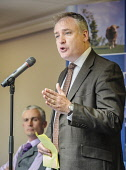 Richard Lochhead, MSP, Cabinet Secretary for Rural Affairs and Environment addresses a meeting of dairy farmers at Lanark, South Lanarkshire. Picture Credit : Andrew Wilson / Scottish Viewpoint   Tel:... Public 2012,summer,politics,SNP,national,party,agriculture,parliament,member