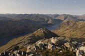 Loch Shiel and Glenfinnan from Sgurr Ghiubhsachain, with the Knoydart hills in the distance, Highlands of Scotland. Picture Credit : Alan Gordon / Scottish Viewpoint   Tel: +44 (0) 131 622 7174  E-Mai... Public 2007,spring,sunny,hill,hills,walking,hillwalking,mountain,mountains,munro,munros,atmospheric,water