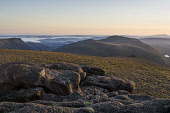Sunrise on Beinn Mheadhoin, looking north to Bynack Mor and the Spey valley, Highlands of Scotland. Picture Credit : Alan Gordon / Scottish Viewpoint   Tel: +44 (0) 131 622 7174  E-Mail : info@scottis... Public 2007,summer,sunny,hill,hills,walking,hillwalking,mountain,mountains,munro,munros,atmospheric,Cairngorms,National,Park,CNP,wild,wilderness,remote,Cairngorm,boulders,rocks,tor,granite