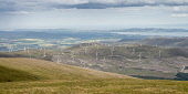 The Novar wind farm and the Cromarty Firth from Glas Leathad Beag, Highlands of Scotland. Picture Credit : Alan Gordon / Scottish Viewpoint   Tel: +44 (0) 131 622 7174  E-Mail : info@scottishviewpoint... Public 2012,summer,sunny,Highland,energy,green,sustainable,power,windfarm,turbine,windmill,hill,hills,mountain,panoramic