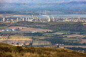 Grangemouth Oil Refinery, Falkirk District. Picture Credit : Andy Bennetts / Scottish Viewpoint   Tel: +44 (0) 131 622 7174  E-Mail : info@scottishviewpoint.com  This photograph cannot be used without... Public 2012,autumn,sunny,industry,pollution,pollute,smoke,fumes,petrochemical,petro,chemical,plant,power,bp,refineries,field,fields,river,forth,water,hill,hills