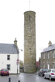 Abernethy Round Tower, Abernethy, Perthshire. Picture Credit : John Pringle / Scottish Viewpoint   Tel: +44 (0) 131 622 7174  E-Mail : info@scottishviewpoint.com  This photograph cannot be used withou... Public 2012,spring,building,heritage,historic,scotland,clock,village