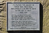 The plaque honouring those from Lothian and Fife that went to fight in the Spanish Civil War (1836-1839), East Princes Street Gardens, in the city centre of Edinburgh. Picture Credit : John Pringle /... Public 2011,summer,sunny,memorial,spain,heritage,commemorate
