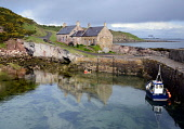 Cove Harbour, Scottish Borders. Picture Credit : Chris Robson / Scottish Viewpoint  Tel: +44 (0) 131 622 7174  Fax: +44 (0) 131 622 7175  E-Mail : info@scottishviewpoint.com  Web: www.scottishviewpoin... Public 2012,water,sunny,summer,romantic,peaceful,peace,idyllic,haven,fishing,cottage,coastal,coast,boat,blue,beautiful
