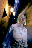 The ghostly figure of a woman in The Real Mary King's Close, Edinburgh. Pic: Gary Doak / Scottish Viewpoint  Tel: +44 (0) 131 622 7174  E-Mail : info@scottishviewpoint.com  Web: www.scottishviewpoint.... Public, NMR 2009,interior,attraction,atmospheric,ghost,tour,tours,tourism,tourist,visitor,heritage,history,historical,costume,spooky,eerie,spook,spectre,shadowy,ghostlike,supernatural,unearthly,paranormal
