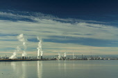 Grangemouth from Kinneil on the Firth of Forth, Falkirk District. Picture Credit : Keith Fergus / Scottish Viewpoint   Tel: +44 (0) 131 622 7174  E-Mail : info@scottishviewpoint.com  This photograph c... Public 2012,autumn,sunny,water,river,Oil,Refinery,petrol,power,economy,industry,pollution,energy