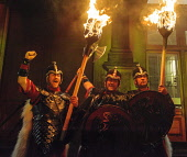 The torchlight procession through the streets of Edinburgh to start Edinburgh's hogmanay celebrations. Picture Credit : Andrew Wilson / Scottish Viewpoint   Tel: +44 (0) 131 622 7174  E-Mail : info@sc... Public, NMR 2012,winter,event,christmas,xmas,spectacle,costume,costumes,fire,torch,torches,flames,viking,festival