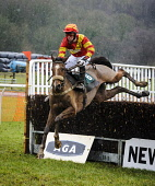 The Dumfriesshire and Stewartry Point to Point fixture at Overton Farm, Crossford, South Lanarkshire. Picture Credit : Andrew Wilson / Scottish Viewpoint   Tel: +44 (0) 131 622 7174  E-Mail : info@sco... Public 2013,winter,horse,racing,jockey,jump,jumper,race,fence,rider,riders,riding,sport,competition,competitors,event