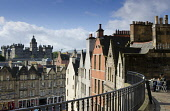 The view to George Heriot's School from the terrace above West Bow in the city centre of Edinburgh. Picture Credit : Allan Wright / Scottish Viewpoint   Tel: +44 (0) 131 622 7174  E-Mail : info@scotti... Public 2005,summer,building,buildings,capital,architecture,old,town,education
