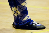 European Highland Dance Championships held at the Nevis Centre, Fort William, Highlands of Scotland. Picture Credit : Kenny Ferguson / Scottish Viewpoint Tel: +44 (0) 131 622 7174   E-Mail : info@scot... Public 2008,interior,Lochaber,compete,competition,event,activity,feet,detail,dancing,socks,tartan,people