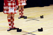 European Highland Dance Championships held at the Nevis Centre, Fort William, Highlands of Scotland. Picture Credit : Kenny Ferguson / Scottish Viewpoint Tel: +44 (0) 131 622 7174   E-Mail : info@scot... Public 2008,interior,Lochaber,compete,competition,event,activity,feet,detail,dancing,kilt,tartan,sword,people