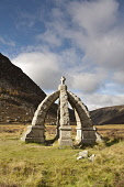 The Queen's Well -  built to commemorate Queen Victoria who once stopped here for a drink of water on her way from Deeside, at the head of Glen Esk, Angus. Picture Credit : Allan Coutts / Scottish Vie... Public 2012,autumn,sunny,commemoration,memorial,hills,walk,walking,glenesk