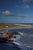 Barns Ness Lighthouse from the beach at Skateraw near Torness, East Lothian. Picture Credit : Keith Fergus / Scottish Viewpoint   Tel: +44 (0) 131 622 7174  E-Mail : info@scottishviewpoint.com  This p... Public 2013,winter,atmospheric,John,Muir,Way,Long,Distance,Path,Walk,Walking,Coastline,Coast,coastal,sand,sandy,waves