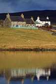 Voe House at Walls, Westside, Mainland, Shetland.  Voe House is a Camping Bod, or bunkhouse, managed by the Shetland Amenity Trust. Picture Credit : Graham Uney / Scottish Viewpoint   Tel: +44 (0) 131... Public 2013,winter,sunny,accommodation,isles,isle,island,water,reflection
