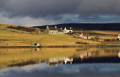 Voe House at Walls, Westside, Mainland, Shetland.  Voe House is a Camping Bod, or bunkhouse, managed by the Shetland Amenity Trust. Picture Credit : Graham Uney / Scottish Viewpoint   Tel: +44 (0) 131... Public 2013,winter,sunny,accommodation,isles,isle,island,water,reflection,housing,atmospheric
