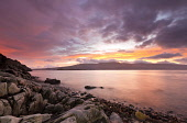 Looking over the Sound of Mull from Inninmore Bay at sunset, Morvern, Highlands of Scotland. Credit : Chris Simmons / Scottish Viewpoint  Tel: +44 (0) 131 622 7174  E-Mail : info@scottishviewpoint.com... Public 2013,winter,atmospheric,atmosphere,hill,hills,moody,mystery,brooding,water,flow,highland,cloudy,clouds,dusk,evening,coast,coastal,coastline,foreshore,rocks,sea