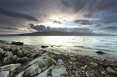 Looking over the Sound of Mull from Morvern, Highlands of Scotland. Credit : Chris Simmons / Scottish Viewpoint  Tel: +44 (0) 131 622 7174  E-Mail : info@scottishviewpoint.com  Web: www.scottishviewpo... Public 2013,winter,atmospheric,atmosphere,hill,hills,moody,mystery,brooding,water,highland,cloudy,clouds,coast,coastal,coastline,sea,foreshore,rocks,pebble,pebbles,beach
