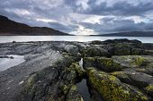 Looking over the Sound of Mull from Inninmore Bay, Morvern, Highlands of Scotland. Credit : Chris Simmons / Scottish Viewpoint  Tel: +44 (0) 131 622 7174  E-Mail : info@scottishviewpoint.com  Web: www... Public 2013,winter,atmospheric,atmosphere,hill,hills,moody,mystery,brooding,water,highland,cloudy,clouds,coast,coastal,coastline,foreshore,rocks,sea