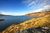 Looking over the Sound of Mull from Inninmore Bay, Morvern, Highlands of Scotland. Credit : Chris Simmons / Scottish Viewpoint  Tel: +44 (0) 131 622 7174  E-Mail : info@scottishviewpoint.com  Web: www... Public 2013,winter,sunny,hill,hills,water,highland,coast,coastal,coastline,sea