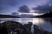 Loch Aline, Morvern, Highlands of Scotland. Credit : Chris Simmons / Scottish Viewpoint  Tel: +44 (0) 131 622 7174  E-Mail : info@scottishviewpoint.com  Web: www.scottishviewpoint.com This photograph... Public 2013,winter,atmospheric,atmosphere,hill,hills,moody,mystery,brooding,water,highland,cloudy,clouds,foreshore,still,stillness,dusk,evening