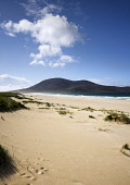 Scarista Beach with the summit of Chaipaval visible beyond, Harris, Outer Hebrides. Picture Credit: Richard Burdon / Scottish Viewpoint Tel: +44 (0) 131 622 7174   E-Mail : info@scottishviewpoint.com... Public 2011,summer,sunny,western,isles,island,isle,sand,sandy,coast,coastal,clouds,water,empty