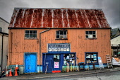 Tarbert Stores hardware shop, Tarbert on the Isle of Harris, Outer Hebrides. Picture Credit : D Cowie / Scottish Viewpoint Tel: +44 (0) 131 622 7174   E-Mail : info@scottishviewpoint.com This photogra... Public 2011,autumn,western,isles,island,retail,specialised,garden,gardening,tools,spade,fork,supplies,fishing,tackle,DIY,HDR