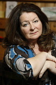 Janey Godley, Scottish Comedian, Actress and Author at home in Glasgow's West End. Picture Credit : Garry McHarg / Scottish Viewpoint Tel: +44 (0) 131 622 7174   E-Mail : info@scottishviewpoint.com Th... Public, NMR 2012,celebrity,writer,comedienne,comedy,performer