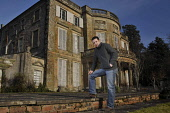 Nathan Tebbutt, First Guardian of The Haining, a mansion near Selkirk, Scottish Borders. The Haining Charitable Trust was established in 2010 to safeguard the future of the 18th century house and 150-... Public 2011,winter,sunny,building,architecture,stately,home,security,protection