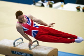 Daniel Purvis (Great Britain and Scotland) competing on the Pommel Horse at the 2010 World Gymnastics Championships in Rotterdam. Picture Credit : Eileen Langsley / Scottish Viewpoint Tel: +44 (0) 131... Public, NMR interior,sport,man,male,mens,indoor,arena,event,competitor,competition,Dan,British,winner,apparatus,concentration,focus