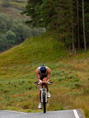 A cyclist on the bike section of the Big Triathlon, Fort William, Highlands of Scotland. Picture Credit : Kenny Ferguson / Scottish Viewpoint Tel: +44 (0) 131 622 7174   E-Mail : info@scottishviewpoin... Public 2008,Lochaber,athlete,athelete,cycling,bicycle,compete,competition,endurance,event,extreme,sport,activity