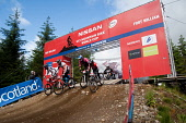 The UCI Mountain Bike World Cup Finals, Fort William, Highlands of Scotland.  Picture Credit : Kenny Ferguson / Scottish Viewpoint Tel: +44 (0) 131 622 7174   E-Mail : info@scottishviewpoint.com This... Public, NMR 2009,summer,sunny,downhill,start,event,bicycle,biking,cyclist,competitor,competition