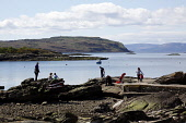 Crocodile Rock, Millport, Great Cumbrae, North Ayrshire. Picture Credit : Iain McLean / Scottish Viewpoint  Tel: +44 (0) 131 622 7174  E-Mail : info@scottishviewpoint.com  Web: www.scottishviewpoint.c... Public 2012,spring,sunny,water,coast,coastal,firth,clyde,island,people,child,children