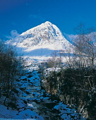 Buchaille Etive Mor in winter after a fresh fall of snow, Highlands of Scotland. Picture Credit : Ian Macrae Young / Scottish Viewpoint  Tel: +44 (0) 131 622 7174  E-Mail : info@scottishviewpoint.com... Public winter,sunny,ice,snow,mountain,mountains,munro,cold,river,trees