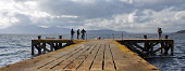 Portencross Pier on the shore of the Firth of Clyde near West Kilbride, North Ayrshire.  Picture Credit : Jack Byers / Scottish Viewpoint  Tel: +44 (0) 131 622 7174  E-Mail : info@scottishviewpoint.co... Public, NMR 2011,coast,coastal,water,activity,fishing,anglers,rod,rods,panoramic