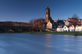 Peebles and the River Tweed, Scottish Borders.Picture Credit : Keith Fergus / Scottish Viewpoint Tel: +44 (0) 131 622 7174 E-Mail : info@scottishviewpoint.com Web: www.scottishviewpoint.comThis photog... Public 2012,winter,sunny,religion,old,parish,church