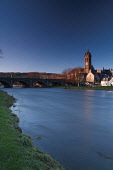 Peebles and the River Tweed, Scottish Borders. Picture Credit : Keith Fergus / Scottish Viewpoint  Tel: +44 (0) 131 622 7174  E-Mail : info@scottishviewpoint.com  Web: www.scottishviewpoint.com This p... Public 2012,winter,sunny,religion,old,parish,church