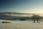 Peebles from Manor Sware, Scottish Borders. Picture Credit : Keith Fergus / Scottish Viewpoint  Tel: +44 (0) 131 622 7174  E-Mail : info@scottishviewpoint.com  Web: www.scottishviewpoint.com This phot... Public 2012,winter,sunny,walk,walking,rural,countryside,town,housing,atmospheric,frost,heavy,cold,mist,misty,forestry,trees