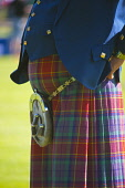 A detail of one of the officials at the Oban, Highland Games, Argyll. Picture Credit : D Barnes / Scottish Viewpoint  Tel: +44 (0) 131 622 7174  E-Mail : info@scottishviewpoint.com  Web: www.scottishv... Public 2010,summer,sunny,event,kilt,tartan,sporran