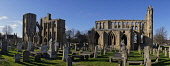 Elgin Cathedral, Moray. Picture Credit : D Barnes / Scottish Viewpoint  Tel: +44 (0) 131 622 7174  E-Mail : info@scottishviewpoint.com  Web: www.scottishviewpoint.com This photograph cannot be used wi... Public 2012,winter,sunny,attraction,visitor,building,ruin,ruins,graveyard,graves,gravestones,religion,panoramic