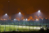 Football pitches at Grangemouth, Central Region. Picture Credit : D Barnes / Scottish Viewpoint  Tel: +44 (0) 131 622 7174  E-Mail : info@scottishviewpoint.com  Web: www.scottishviewpoint.com This pho... Public 2012,winter,evening,night,sport,pitch,floodlit,floodlights,petro,chemical,petrochemical,oil,refinery
