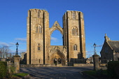 Elgin Cathedral, Moray. Picture Credit : D Barnes / Scottish Viewpoint  Tel: +44 (0) 131 622 7174  E-Mail : info@scottishviewpoint.com  Web: www.scottishviewpoint.com This photograph cannot be used wi... Public 2012,winter,sunny,attraction,visitor,building,ruin,ruins