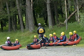 Instruction for white water riverbugging at the Linn of Tummel, Perthshire. Picture Credit : Martin Knight / Scottish Viewpoint  Tel: +44 (0) 131 622 7174  E-Mail : info@scottishviewpoint.com  Web: ww... Public, NMR 2010,summer,activity,activities,outdoors,bugs,adventure,sports,sport,river,people,instruction,instructor,school,learn,tuition,fun,excitment,play