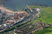An aerial view of Eyemouth, Scottish Borders. Picture Credit : Jason Baxter / Scottish Viewpoint  Tel: +44 (0) 131 622 7174  E-Mail : info@scottishviewpoint.com  Web: www.scottishviewpoint.com This ph... Public 2008,summer,sunny,coast,coastal,fishing,town,port,harbour,beach,sand,sandy,water